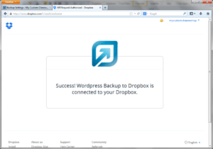 wordpress dropbox integration