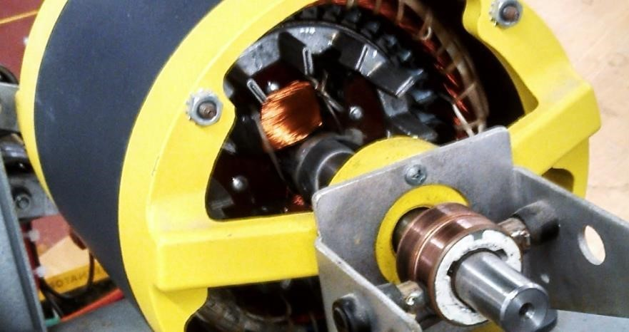 Figure 4. AC Synchronous motors are easily recognized by the two slip rings on the rotor shaft