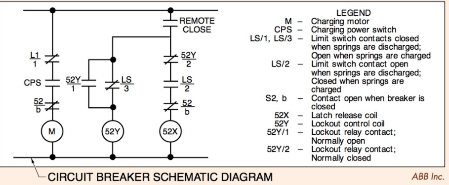 Circuit Breaker Schematic Diagram Electrical A2z