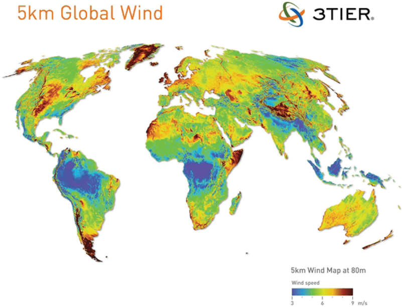 Global Wind Speed Map