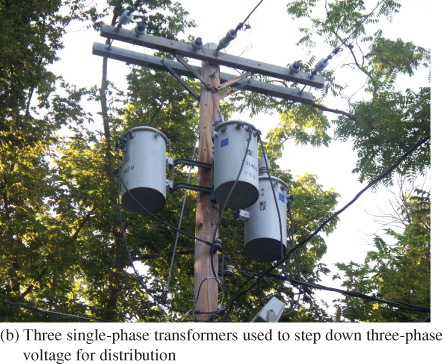 three single phase transformers