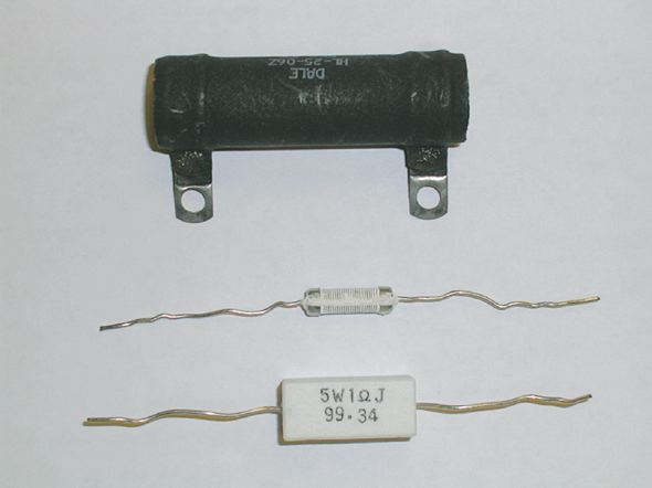 Wire-wound resistor.