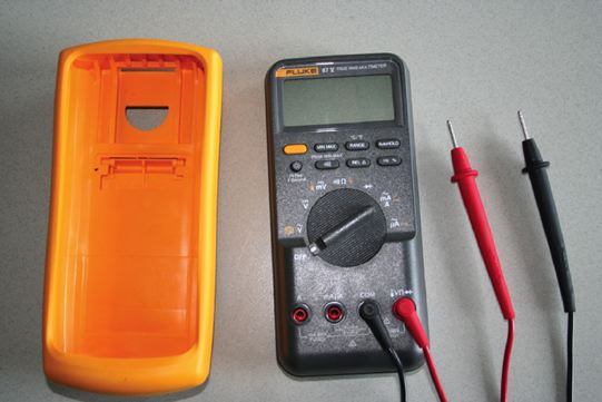 Typical digital multimeter (DMM).