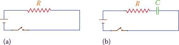 Adding a capacitor to a DC circuit