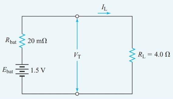 Equivalent parallel circuit for Example 5