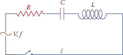 A series RLC circuit.