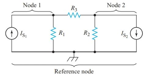 circuit diagram for writing nodal equations