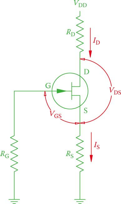 Definition of FET circuit components.