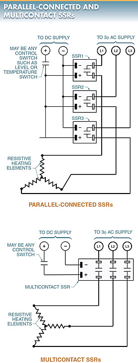 parallel connected solid state relays