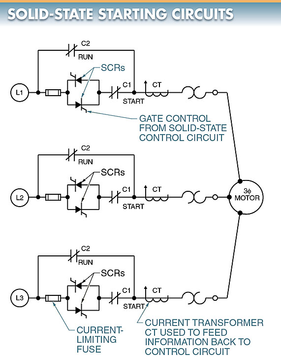solid state starting circuit