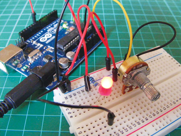 Create a Dimmer Switch to Control LED Brightness Using Arduino