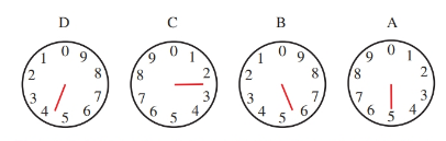 The kilowatt hours indicated equal 4255. When the dial indicator rests between numbers, the lower number is selected.