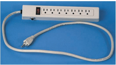 Circuit breakers in power strips use inductors to protect equipment, property, and people.