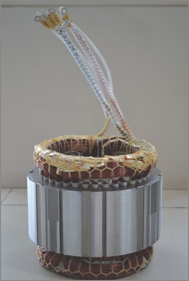 induction motor Laminated stator