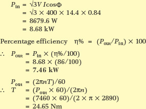electric machine losses and efficiency calculation