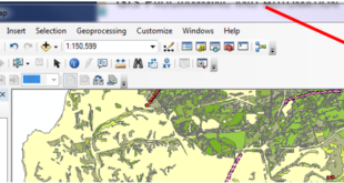 Figure 1 Locate the Catalog tab in ArcMap