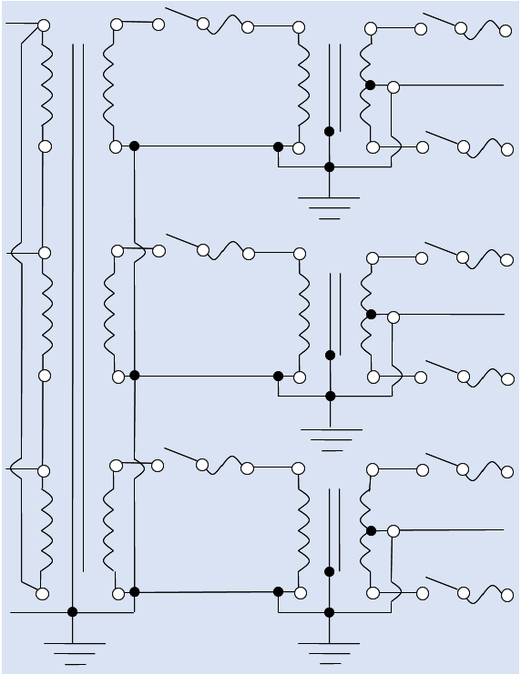 Figure 3. The electrical utility power transmission-distribution system for a rural trunk line grid