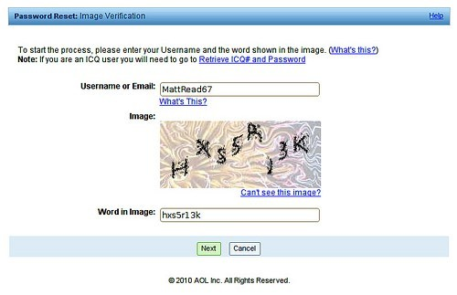 Figure 4 CAPTCHA Example