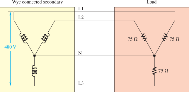 Wye Connected Secondary and Load