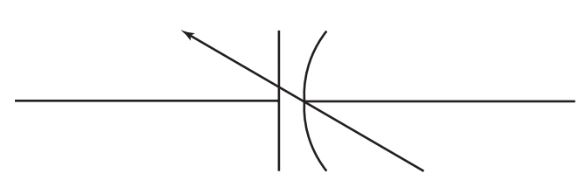 Schematic symbol for a variable capacitor.