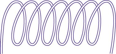 A coil (winding of wire) is the basis of an inductor.