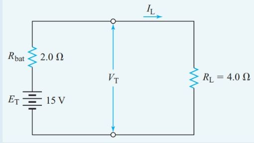 Equivalent series circuit for Example 3
