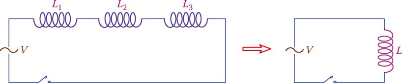 Inductors in series.