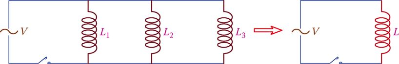 Inductors in parallel.