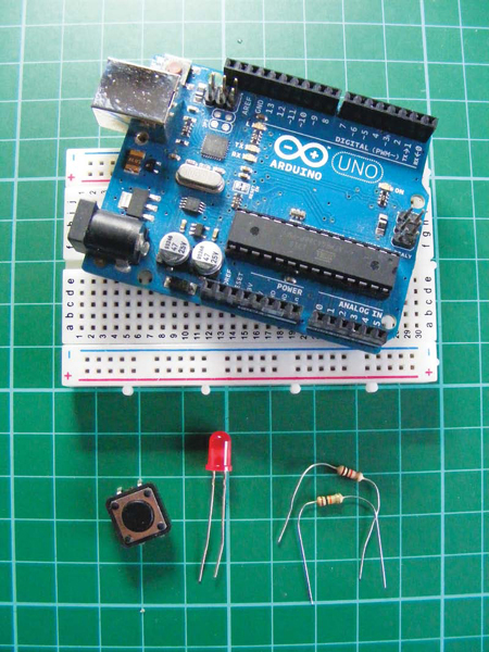 LED with Pushbutton Switch and Arduino circuit diagram