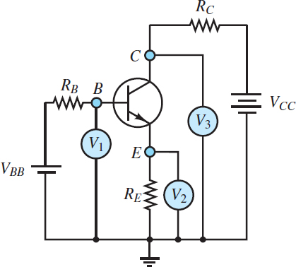 Determination of the operating mode of a Bipolar Junction Transistor (BJT)