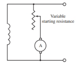Simplified motor starting circuit