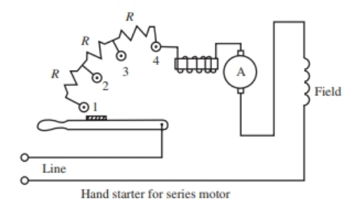Typical manual step motor starter circuit