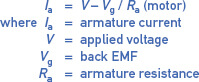 dc motor armature current equation