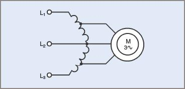 Starting connections for three phase induction motor using an open delta transformer